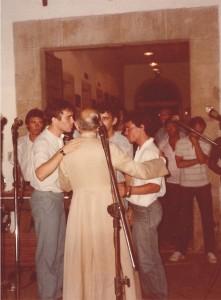 Eu, Dom Hélder Câmara, Gastãozinho e Agenor.