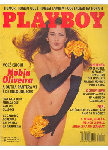 Núbia Oliver em sua primeira capa de revista em 1990.